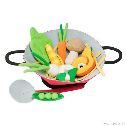 Hrajeme sinakuchaře – pánev wok - Maňásci