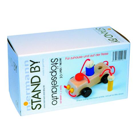 Dřevěné autíčko nacesty – hračka doruky - Maňásci