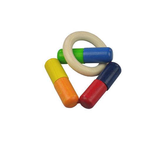 <strong>Výprodej</strong> Trojúhleník – dřevěná hračka doruky - Maňásci