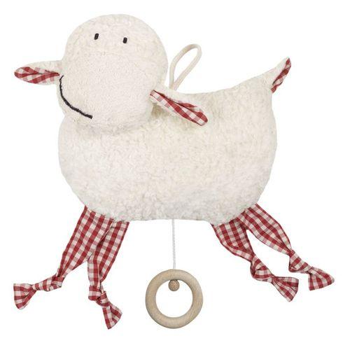 Ovečka BIObavlna – hračka shracím strojkem promiminka - Maňásci
