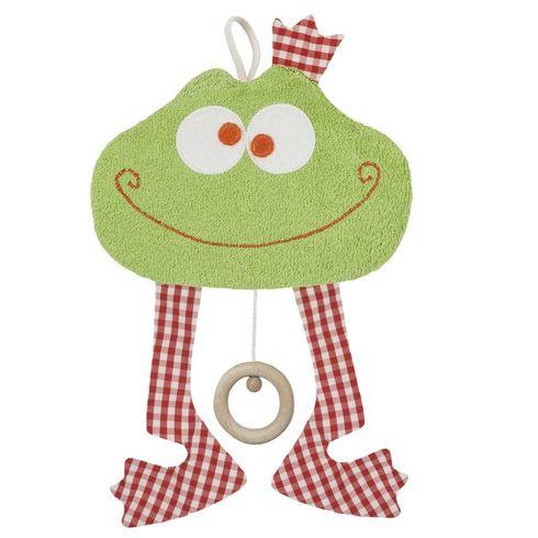 Žába BIObavlna – hračka shracím strojkem promiminka - Maňásci