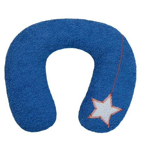 <strong>Výprodej</strong> Šíjový polštářek proděti modrý 9+BIObavlna - Maňásci