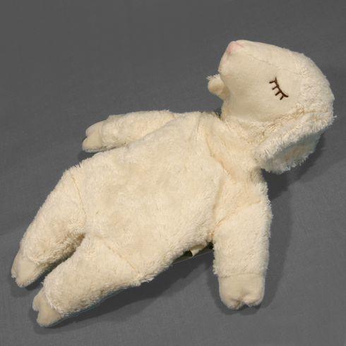 Ovečka malá bílá – plyšové zvířátko +nahřívací polštářek, třešňové pecky - Maňásci