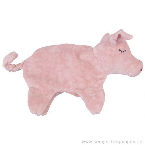 <strong>Výprodej</strong> Prasátko malé – plyšové zvířátko +nahřívací polštářek, třešňové pecky - Maňásci