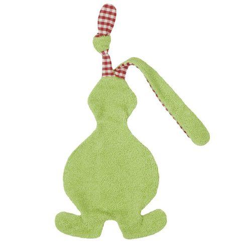 Zajíček zelený BIObavlna – mazlíček usínáček - Maňásci