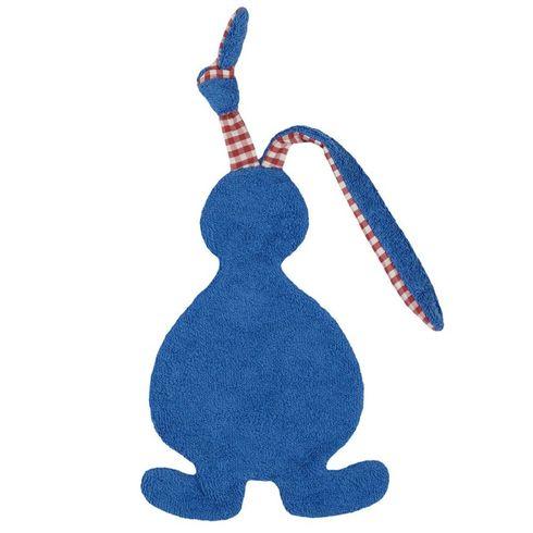 <strong>Výprodej</strong> Zajíček modrý BIObavlna – mazlíček usínáček - Maňásci