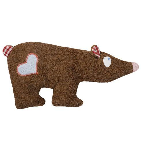 Hnědý medvídek sesrdíčkem BIObavlna – mazlíček - Maňásci