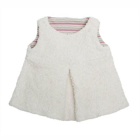 Bílá tunika BIObavlna – oblečení proděti 98/104 - Maňásci