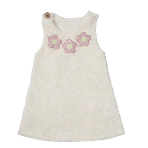 Bílé šatičky květinky BIObavlna – oblečení proholčičky 110/116 - Maňásci