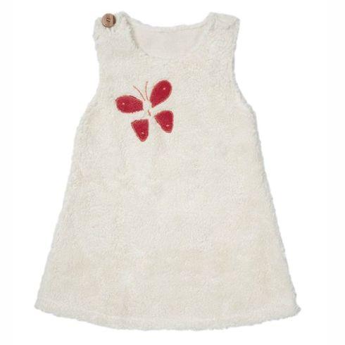 <strong>Výprodej</strong> Bílé šatičky motýlek BIObavlna – oblečení proholčičky 110/116 - Maňásci