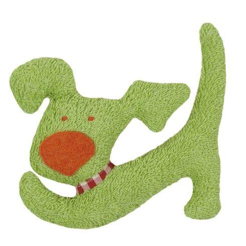 Zelený pejsek BIObavlna – mazlíček schrastítkem - Maňásci