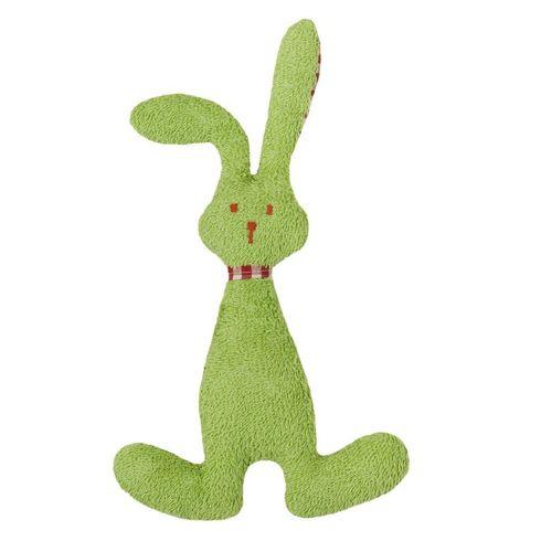 Zelený zajíček BIObavlna – mazlíček schrastítkem - Maňásci