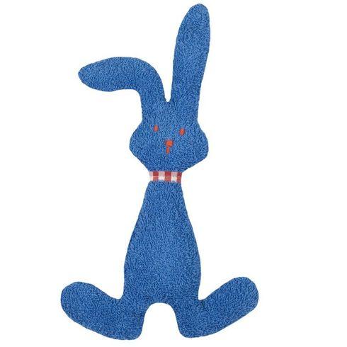 Modrý zajíček BIObavlna – mazlíček schrastítkem - Maňásci