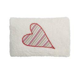 *AKCE* Srdíčko sproužky červené BIObavlna – malý nahřívací polštářek