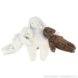 *AKCE* Ovečka malá bílá – plyšové zvířátko +nahřívací polštářek, třešňové pecky