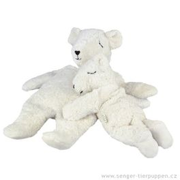 *AKCE* Lední medvěd velký – plyšové zvířátko +nahřívací polštářek, špaldové plevy