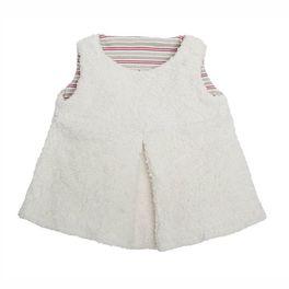 *AKCE* <strong>Výprodej</strong> Bílá tunika BIObavlna – oblečení proděti 98/104