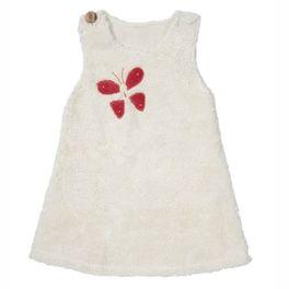 *AKCE* Bílé šatičky motýlek BIObavlna – oblečení proholčičky 110/116